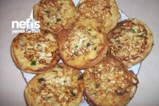 Peynirli Yumuşacık Hamburger Ekmeği Kızartması Tarifi