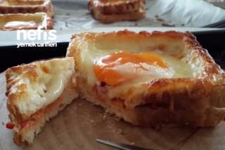 Fırında Menemenli Tost Ekmeği Tarifi