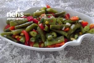 Köz Biberli Yaz Fasulye Salatası(Tam Diyetlik) Tarifi