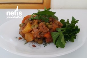 Fırında Karışık Sebzeli Et Sote Tarifi