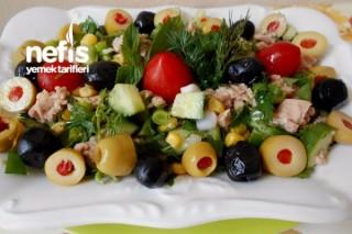 Zeytinli Ton Balıklı Salata Tarifi