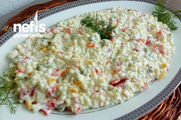 Yoğurtlu Nefis Kuskus Salatası
