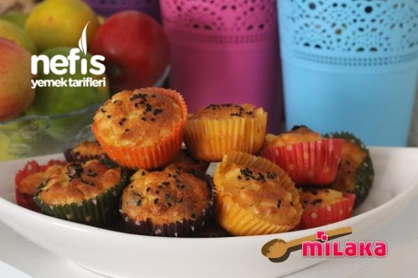 Patatesli Zeytinli Muffin