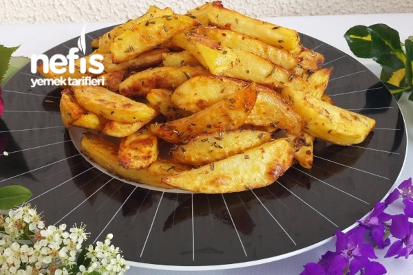 Fırında Baharatlı Çıtır Patates Tarifi