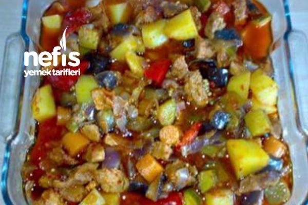 Fırın Poşetinde Etli Sebzeli Türlü Tarifi