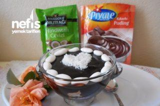 Badem Şekerli Kakaolu Puding Tarifi