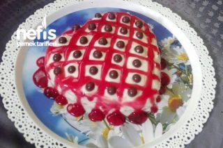 Meyveli Soslu Kalpli Aşk Pasta Tarifi