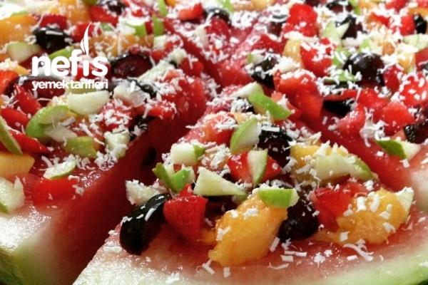 Pizza Karpuz (Meyve Şöleni) Tarifi