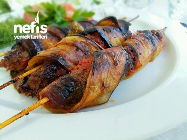 Sarmal Patlıcanlı Şiş Kebap