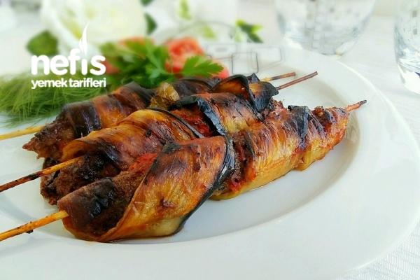 Sarmal Patlıcanlı Şiş Kebap Tarifi