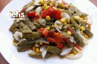 Taze Fasulye Salatası (Kapya Biberli) Tarifi