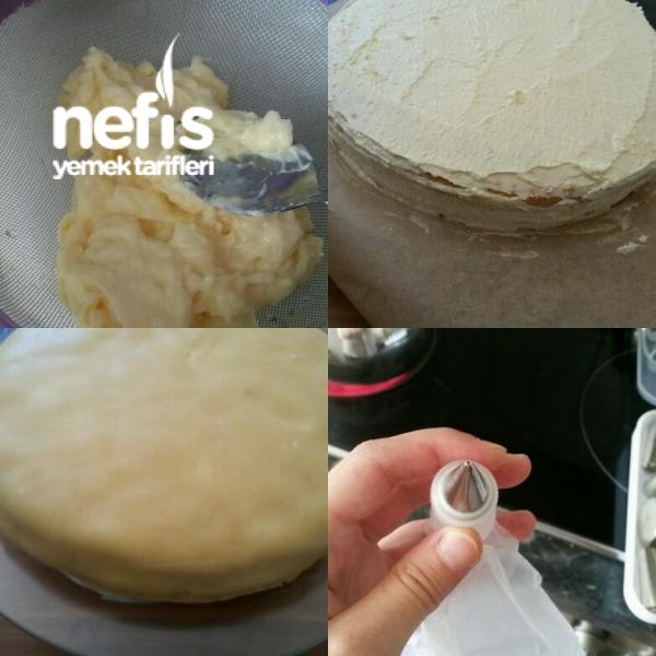 Badem Ezmeli Pasta (Marzipan Torte)