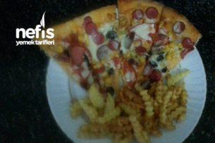Pizza Yapımı(Dışarıda Pizza Yemeye Son) Tarifi