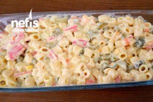 Hardal Soslu Makarna Salatası Tarifi