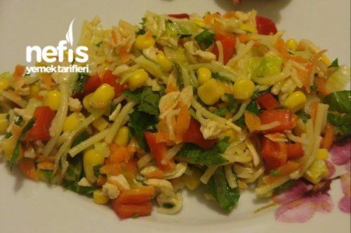 Tavuklu Tel Şehriye Salatası Tarifi Videosu