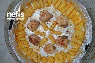 Fırında Pratik Patatesli Tavuk Tarifi