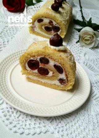 Kirazlı Rulo Pasta (Çok hafif )