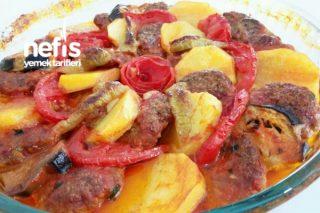 Fırında Patatesli Patlıcanlı Dizme Tarifi