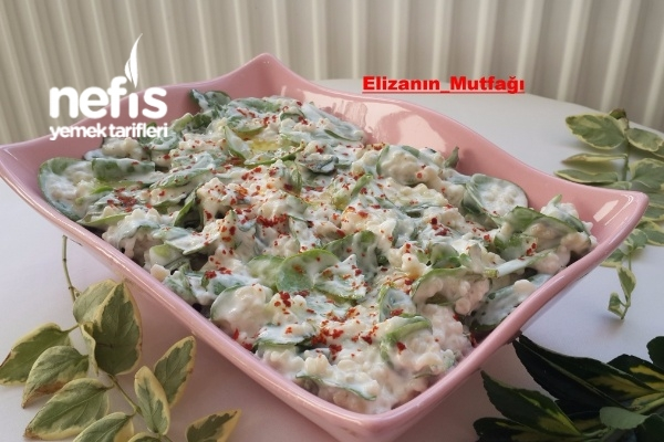 Yoğurtlu Buğdaylı Semizotu Salatası Tarifi