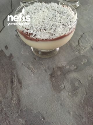 Cikolata Puddingli Muhallebili Kuplar