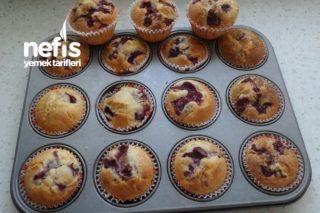 Vişneli Topkek  (Muffin) (videolu) Tarifi