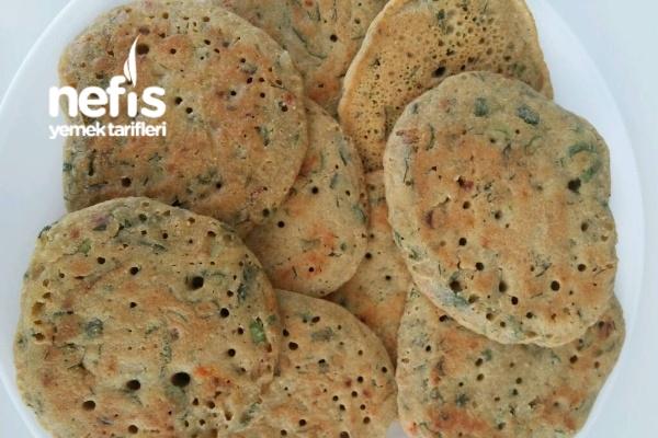 Sebzeli Sütsüz Yumurtasız Nohut Unlu Pankek Tarifi