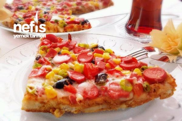 Bayat Ekmek Pizzası (Gerçeği Gibi)
