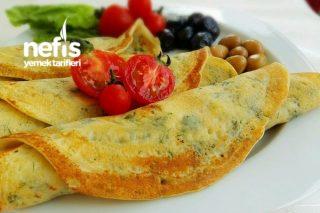 Börek Tadında Kahvaltılık Krep Tarifi