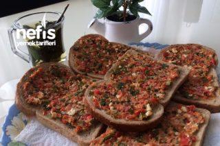 Kahvaltı İçin Domatesli Dilim Ekmek Tarifi
