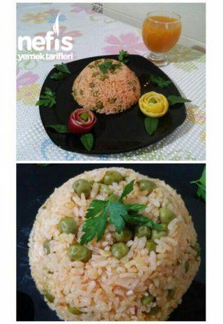 Bezelyeli Domatesli Pirinç Pilavı