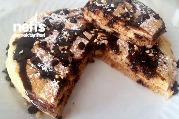 Fındıklı Damla Çikolatalı Pancake Tarifi