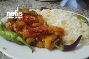 Fırında Tavuklu Patlıcan Yemeği Tarifi