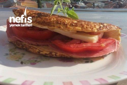 Burgu Peynirli Yulaf Ezmeli Omlet Tarifi – Kahvaltılık Tarifler