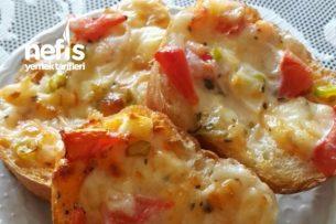 Çıtır Ekmek Pizzası Tarifi
