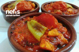 Güveçte Tavuklu Patlıcan Musakka Tarifi
