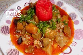 Pirinçli Kıymalı Patlıcan Yemeği Tarifi