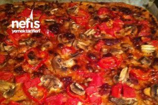 Kepek Unlu Mantarlı Pizza Tarifi