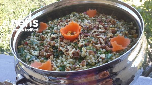 Maş Fasulyeli Kuskus Salatası
