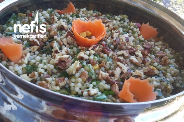 Maş Fasulyeli Kuskus Salatası Tarifi