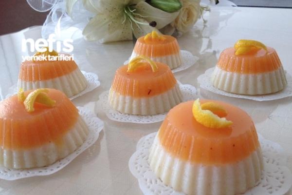 Şeftalili-Limonlu Sütlü İrmik Tatlısı Tarifi
