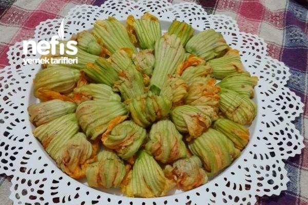 Zeytinyağlı Kabak Çiçeği Dolması (Dondurucuda)