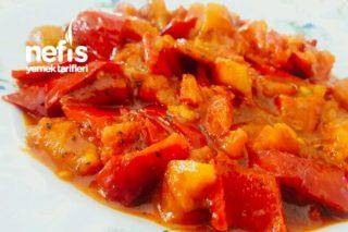 Biberli Domates (Kahvaltı İçin) Tarifi