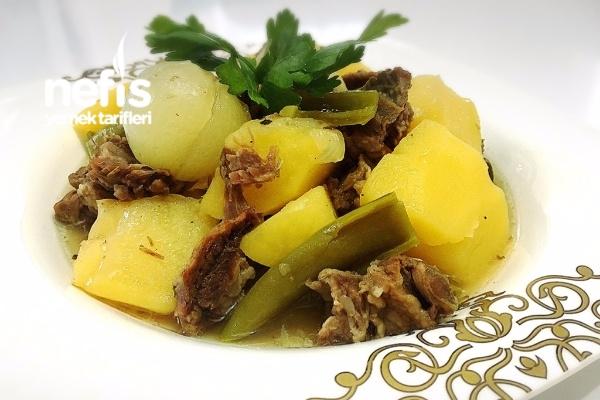 Kemik Suyunda Patates Yemeği Tarifi
