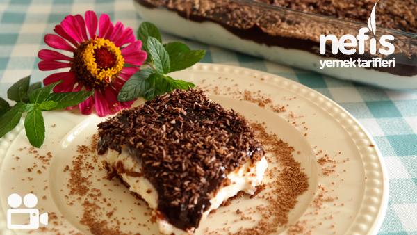 Çikolata Soslu Bisküvili Tatlım (videolu) Tarifi