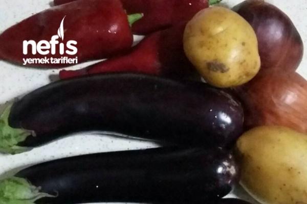 Zeytinyağlı Leziz Patatesli Patlicanli Sebze Yemeğim