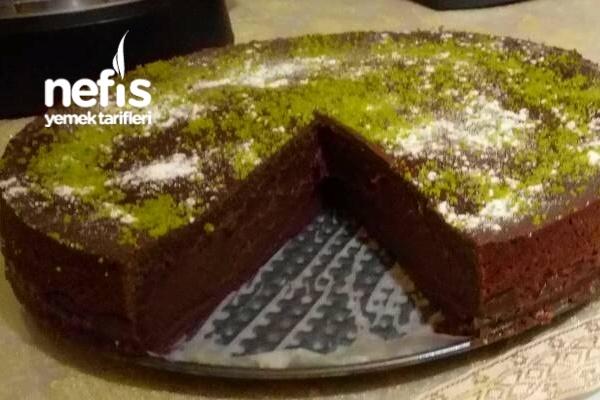 Çikolatalı Pudingli Pasta..(harika)