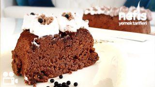 Fırınsız Kakaolu Şipşak Pasta Tarifi Videolu