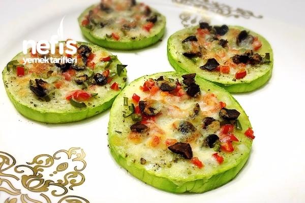 Diyet Kabak Pizza Tarifi