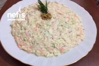 Beyaz Lahana Salatası (Havuçlu Dereotlu) Tarifi