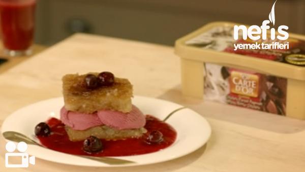 Vişne Soslu Ekmek Kadayıfı Videosu Tarifi